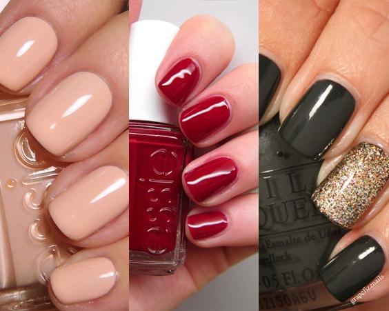 Лак для ногтей всегда смотрится эффектно, если выполнен в черном или красном цвете