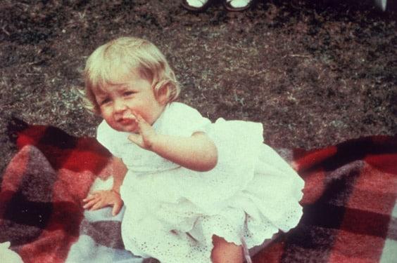 Диана в раннем детстве