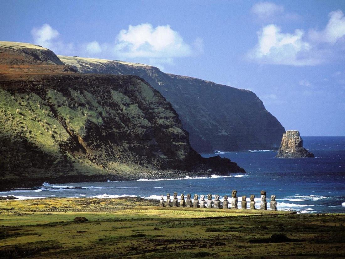 Остров Пасхи панорама