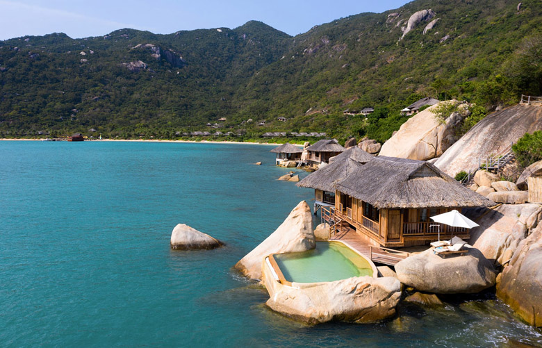 Отель Six Senses Ninh Van Bay – вид на бассейн